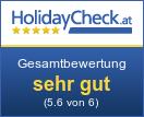 Hotel Aqua Dome - Gesamtbewertung sehr gut (5.7 von 6)