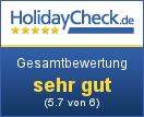 Hotel Alpina - Gesamtbewertung sehr gut (5.7 von 6)