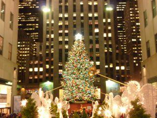 Weihnachtsbaum Rockefeller Center.Rockefeller Christmas Tree Bild Weihnachtsbaum Am Rockefeller
