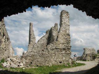 Ruiny Zamku Eisenberg i Freyberg High
