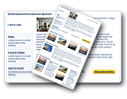 Read about your holiday destination in four categories