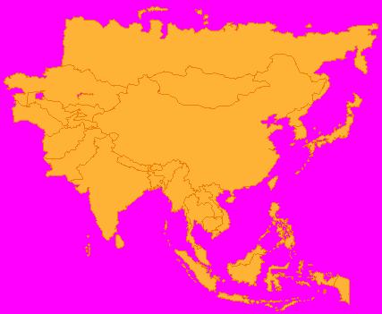 Azja Mapa