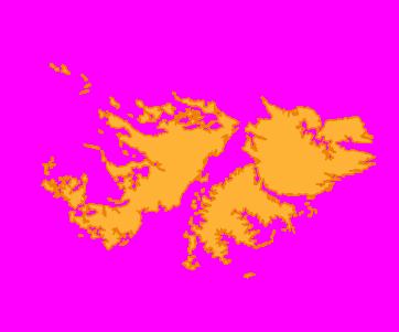 Falklandinseln / Malwinen (GB) Karte