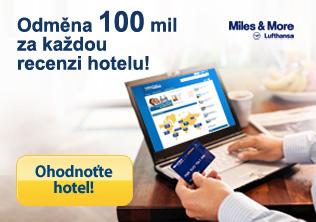 Miles and More - napište recenzi hotelu - získejte 120 prémiových mil!