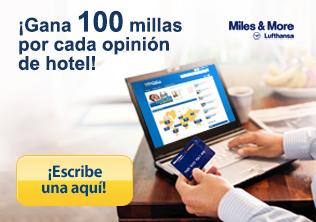 Miles & More - escribe una opinión de hotel - gana 100 millas