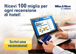 Miles and More  - scrivi una recensione di hotel - guadagna 120 miglia