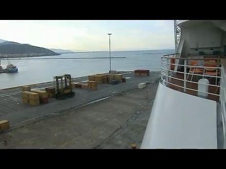 Blick von der AidaDiva über Volos