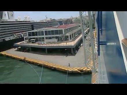 Blick von der AidaDiva über Piraeus
