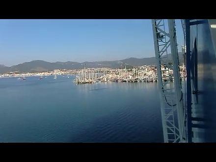 Blick von der AidaDiva über Marmaris