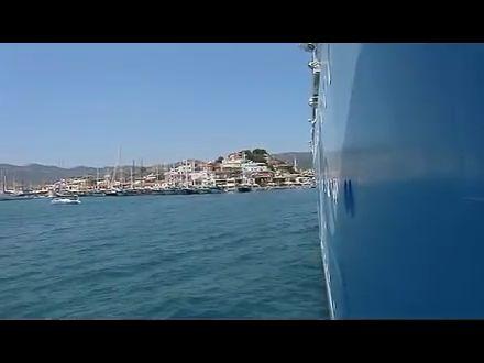 Blick von der AidaDiva über Marmaris Pier3 Bar